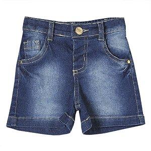Shorts Bebê Look Jeans Detalhe Jeans