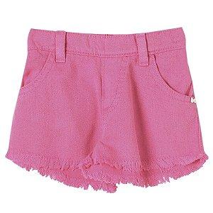 Shorts Bebê Look Jeans Sarja Collor