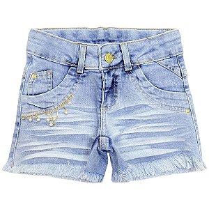 Shorts Juvenil Look Jeans Marmorizado Jeans