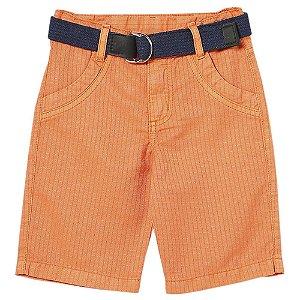 Shorts Infantil Look Jeans c/ Cinto Collor