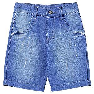 Shorts Infantil Look Jeans Basic Jeans