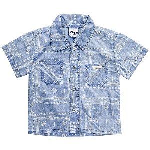 Camisa Bebê Look Jeans Navy Jeans