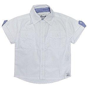 Camisa Bebê Look Jeans Básica Branca