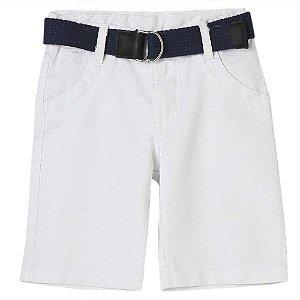 Shorts Bebê Look Jeans C/ Cinto Collor