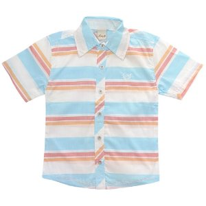 Camisa Juvenil Look Jeans Listrada Collor
