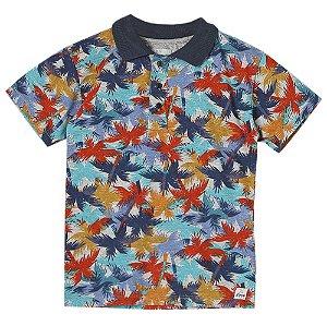 Camiseta Juvenil Look Jeans Polo Floral