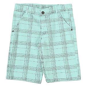 Bermuda Juvenil Look Jeans Xadrez Collor
