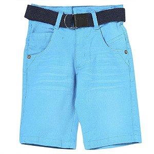 Bermuda Juvenil Look Jeans c/ Cinto Collor