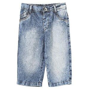 Calça Bebê Look Jeans Marmorizada Jeans