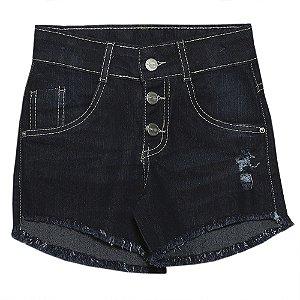 Shorts Juvenil Popstar c/ Botão Jeans