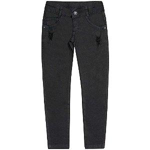 Calça Juvenil Look Jeans Skinny Preta