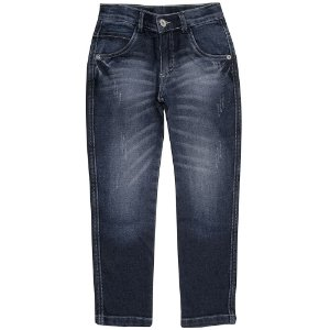 Calça Juvenil Look Jeans Reta Jeans