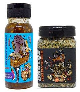 Kit Molho de Pimenta e Tempero para Churrasco - Velha Querida (Geléia de Jalapeño) e Zulmiro (Tempero Seco para churrasco)
