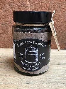 Cappuccino Low Carb com Leite de Coco O que tem no Pote