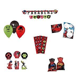 Kit festa Ladybug 8 itens