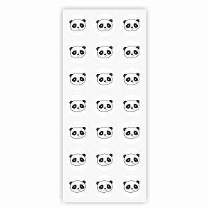 Adesivo Duster Redondo Panda 2,5 cm x 2,5 cm 42 unidades