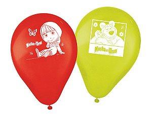 Balão de Látex Impresso 9 Polegadas Masha e o Urso