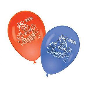 Balão de Látex Impresso 9 polegadas Galinha Pintadinha 25 unidades
