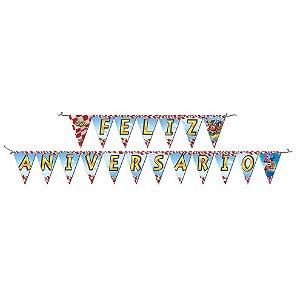 Faixa Festcolor Feliz Aniversário Super Wings