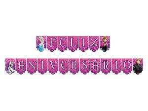 Faixa Regina Feliz Aniversário Frozen