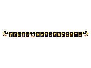 Faixa Regina Feliz Aniversário Mickey Clássico