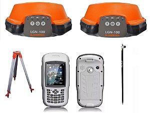 GNSS RTK Pentax Linertec LGN100 L1L2 com Bastão e Tripé