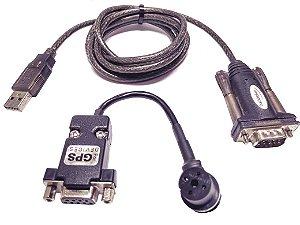 Cabo Gps 12/12XL/III Plus Serial (dados) + Conversor USB