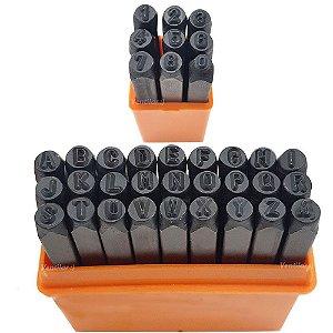 Kit Ferramenta de Punção de Aço (Batedor) 4mm-Alfanumérico