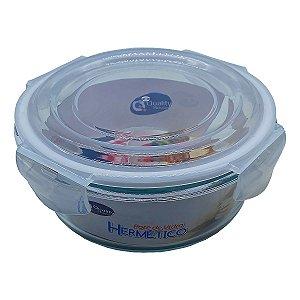 Pote de Vidro Hermético Redondo 620 ml com Tampa Vedada - Quality House