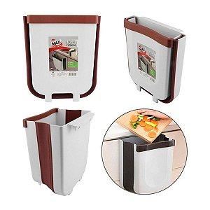 Lixeira Para Cozinha De Embutir Retrátil Dobrável Suspensa -23,7cm x 15cm x 20,6cm