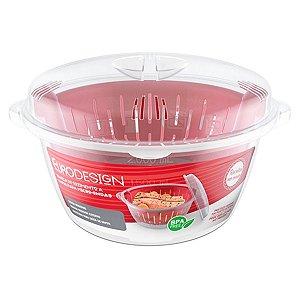 Panela de Cozimento À Vapor Para Microondas Legumes E Verduras – BPA Free