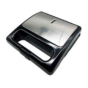 Grill Eletrico Sanduicheira Waffle Removível 2 Em 1 BLACK + DECKER
