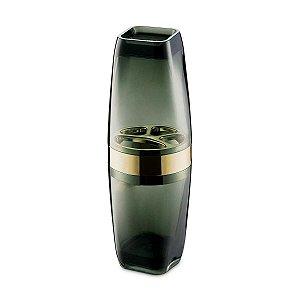 Porta Escova De Dentes Com Tampa Acrílico Premium Banheiro Pia UZ526-PRDR