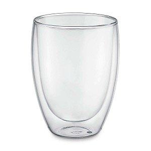 Copo Vidro Térmico Borossilicato Transparente Premium Moderno 300ml UZ