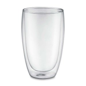 Copo Vidro Térmico Borossilicato Transparente Premium Moderno 450ml UZ