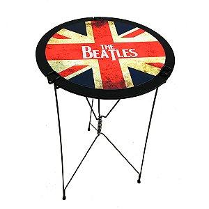 Mesa Desmontável Retrátil Dobrável Para Churrasco Petisco Preto Beatles