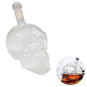 Garrafa De Caveira Whisky 550 ml Vidro Borosilicato Tequila Vodka Decoração