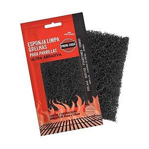 Esponja Ultra Abrasiva Limpa Grelhas Chapas Panelas Exaustores Prime Grill