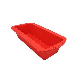 Forma De Silicone Forno Maleável Bolo Inglês Pão Cozinha Doce Assadeira Vermelha