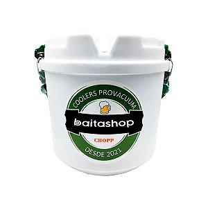 Cooler Térmico Barril Chopp Cerveja Alça Removível Prático Baitashop 5 Litros