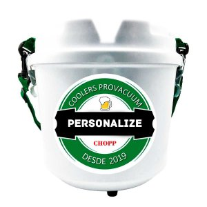 Cooler Térmico Personalizado Barril Chopp Cerveja Alça Removível 5 Litros Prático