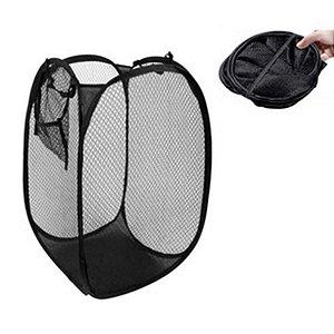 Cesto De Roupa Suja 40x40x70cm Flexível Para Banheiro Preto