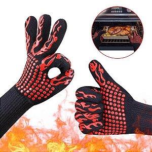 Luva Para Churrasco Super Resistente Alta Temperatura Barbecue Unitário