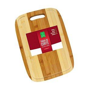 Tábua De Carne Ecológica Corte Churrasco Com Alça Bambu Sustentável
