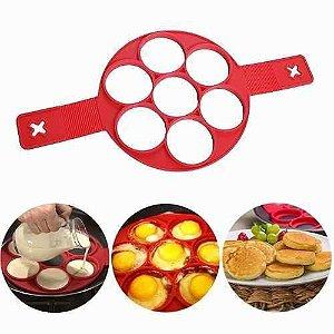 Forma De Silicone Para Panquecas E Omeletes 7 Divisões