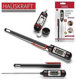 Termômetro Digital Culinário com Capa Plástica para Armazenamento - Hauskraft