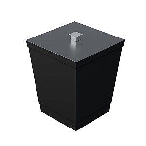 Lixeira Para Banheiro Cozinha Cesto de Qualidade 6,5L Linha Black Premium