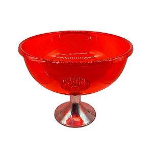 Champanheira Mini Vermelha Taça Balde de Mesa para Cerveja Champagne Premium - 39x39x34cm