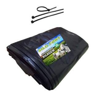 Sacos Para Silagem Preto 51x100 200 Micra 100un C/abraçadeiras