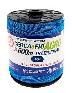 Kit Cerca Eletrica Rural - Eletrificador + Rolo De Fio 500m